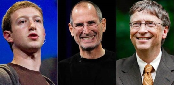 Mark Zuckerberg Steve Jobs Bill Gates